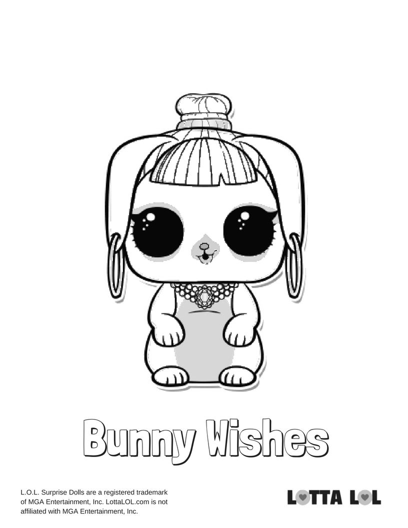 Bunny Wishes Coloring Page Lotta Lol