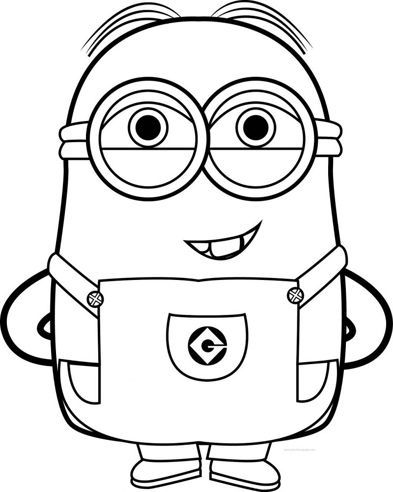 Free Minion Coloring Pages 1024x1281