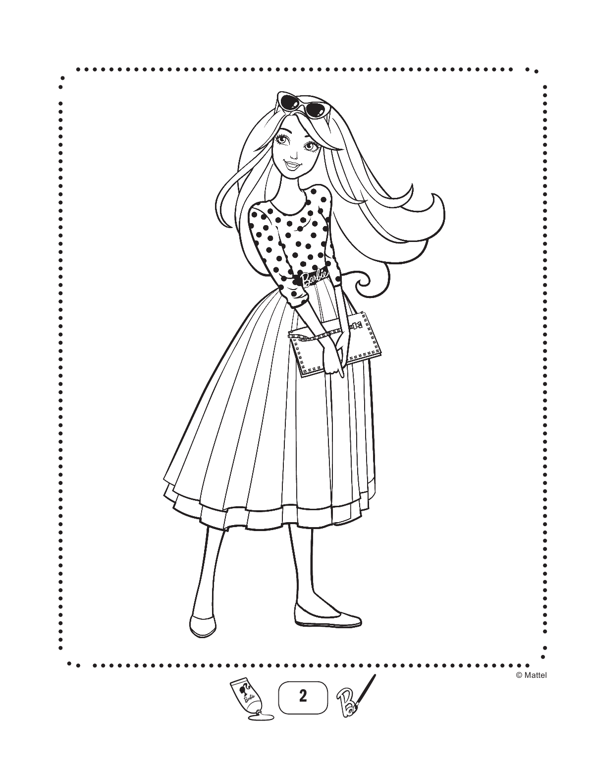 Pin On Barbie Coloring Book