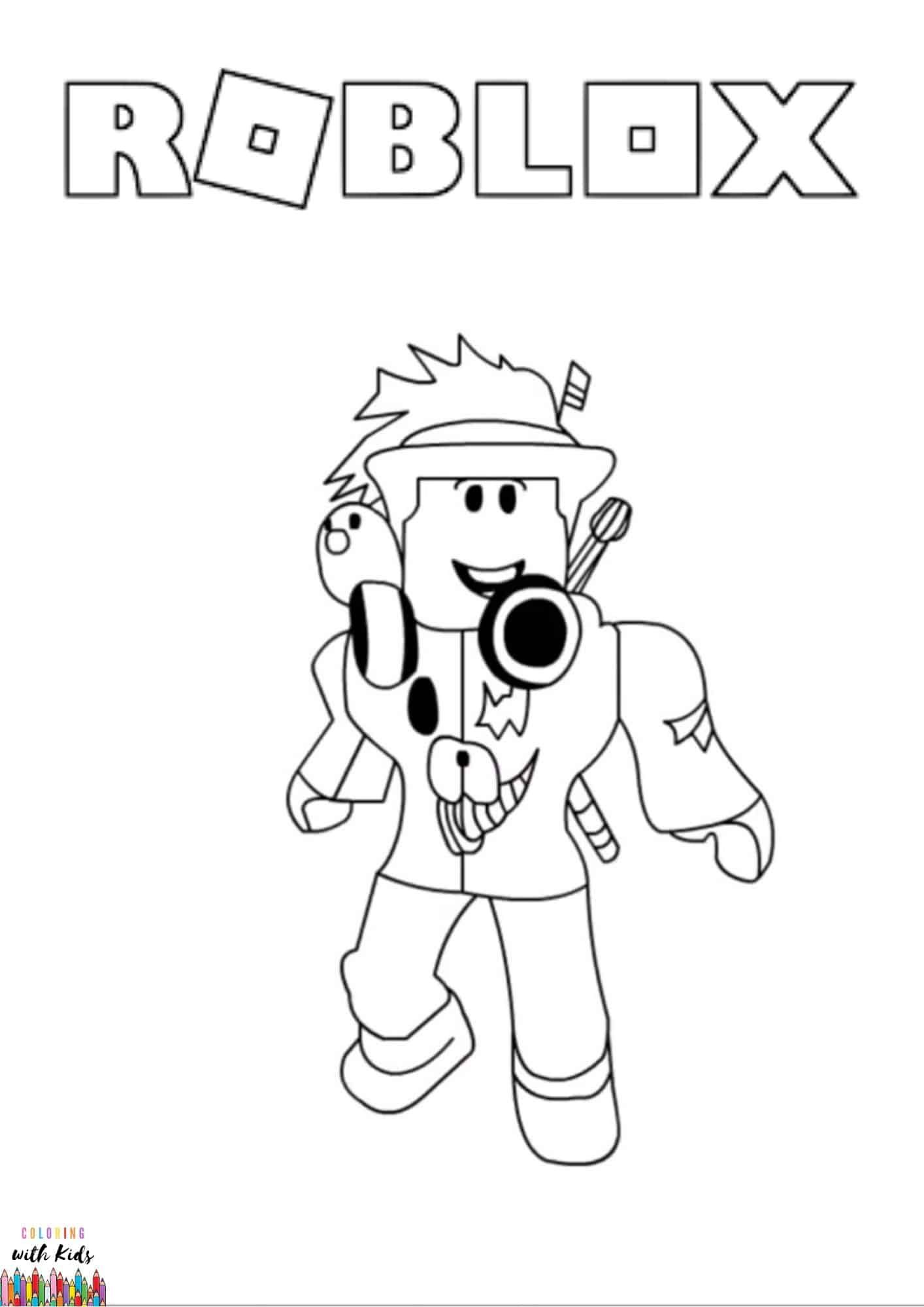 Pin On Roblox Coloring Page