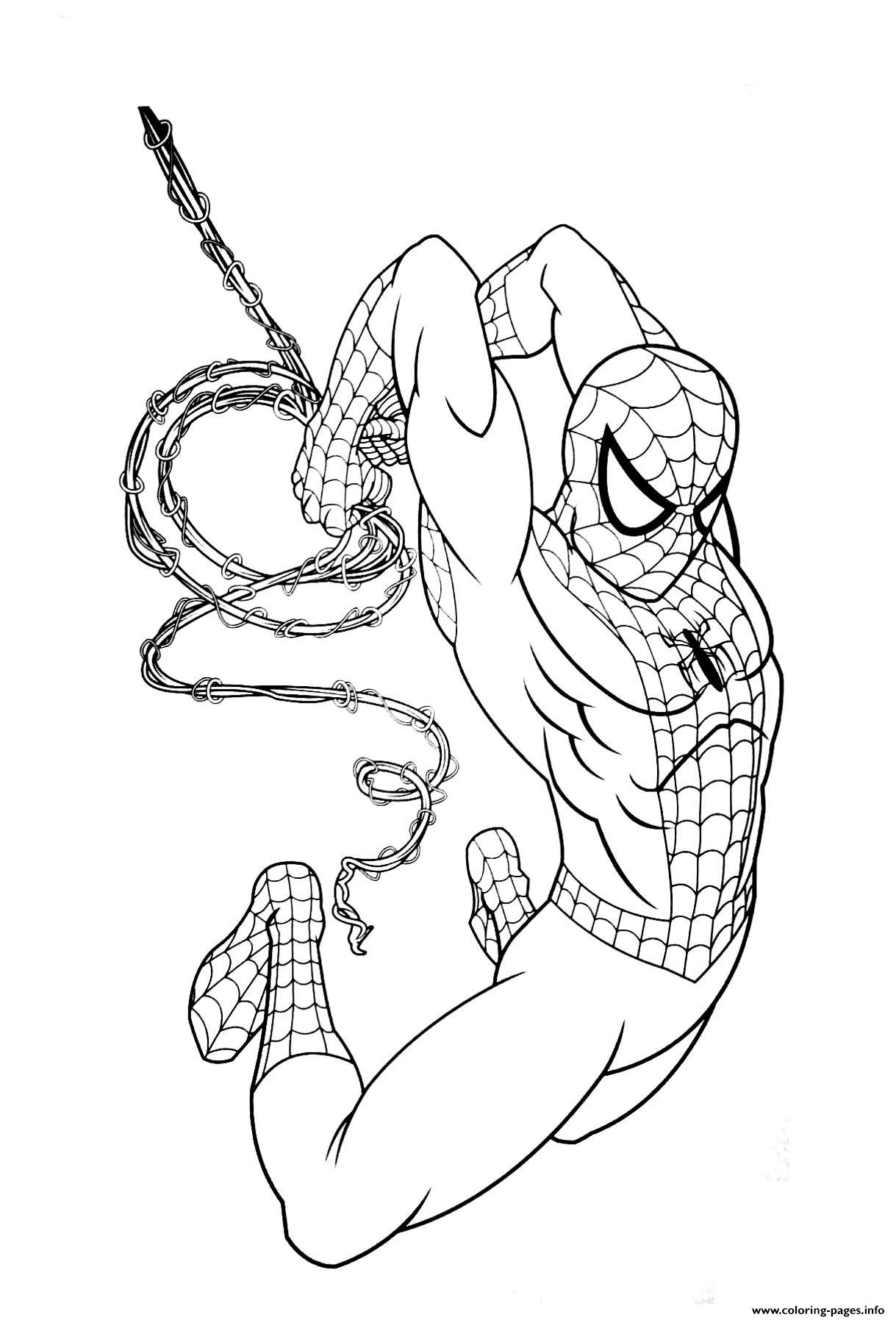 Spiderman Coloring Pages Avengers