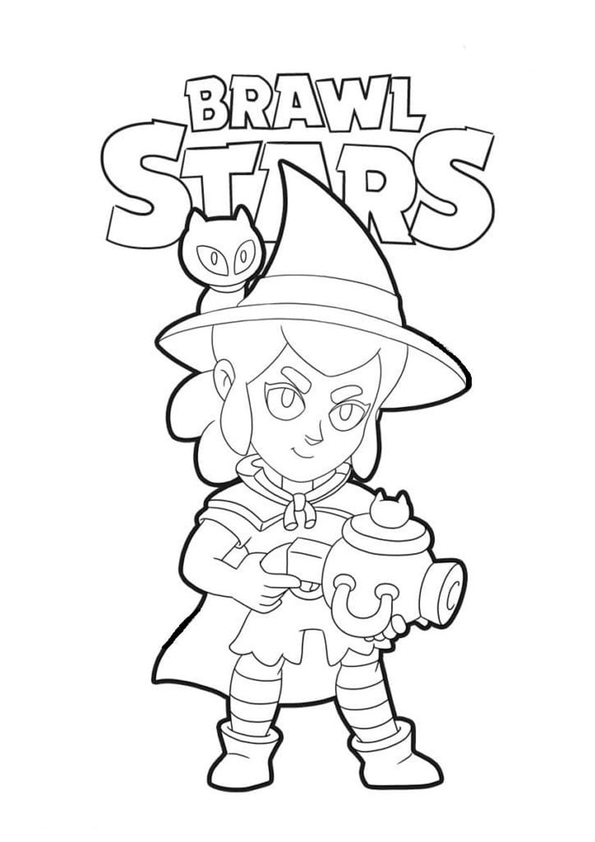 Brawl Stars Witch Shelly Coloring Pages
