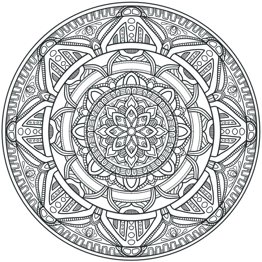 Mandala Art Coloring Pages Easy Ice