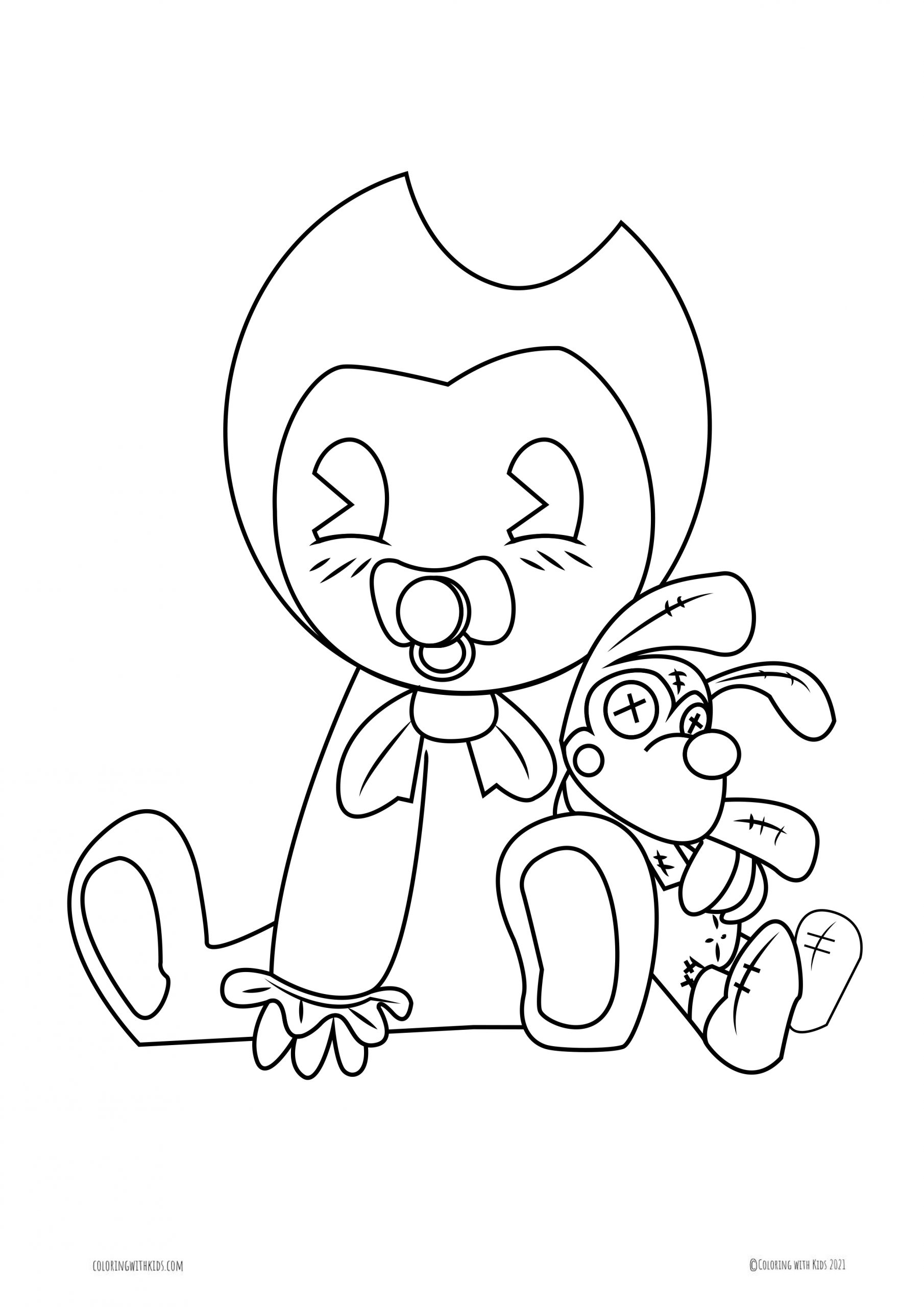 Baby Bendy Coloring Page Coloring