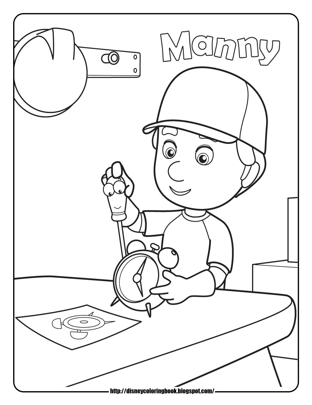 Handy Many Coloring Pages