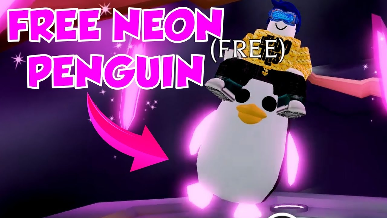 How To Get A Free Neon Penguin In Adopt Me Roblox Adopt Me Penguin Update