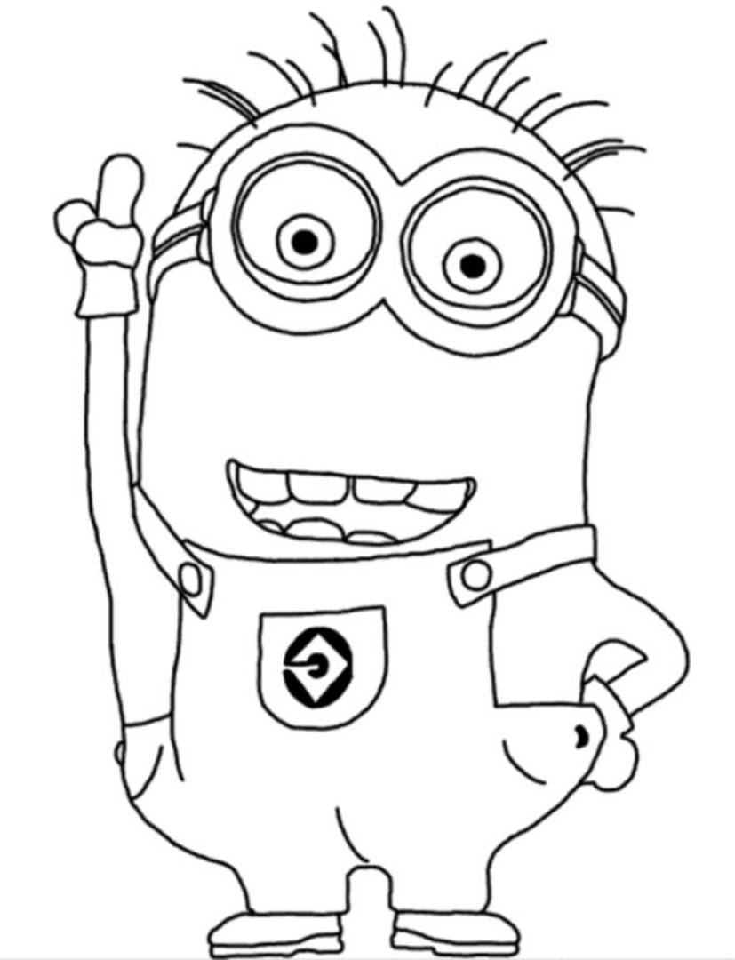 Coloring Store Minions Coloring Pages