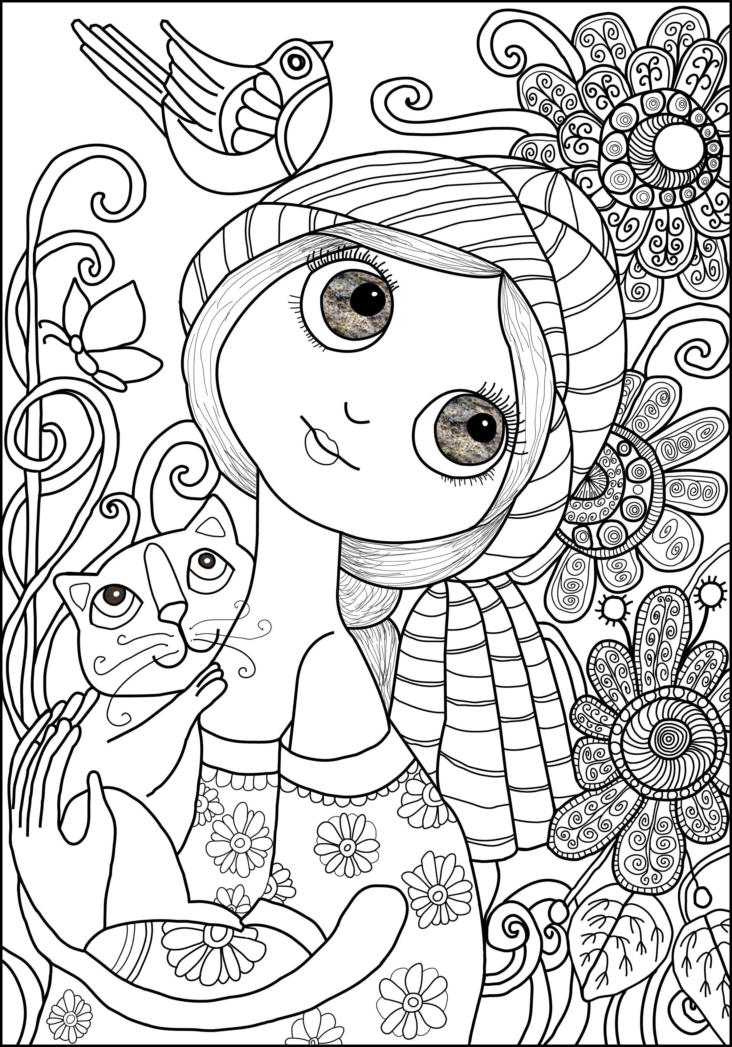 Art Drawings For Kids Coloring Pages