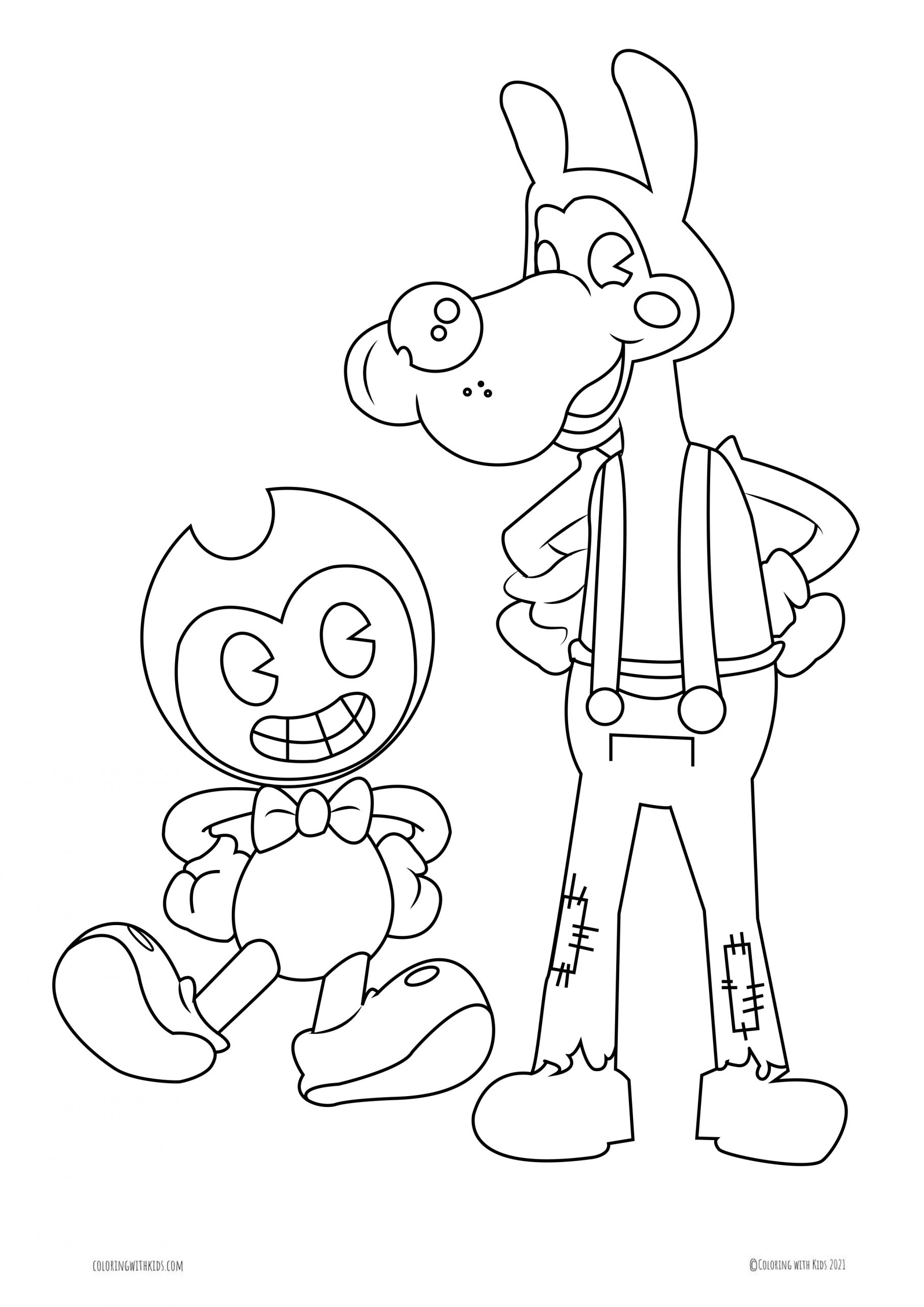 Coloring Page Of Ink Bendy Coloring