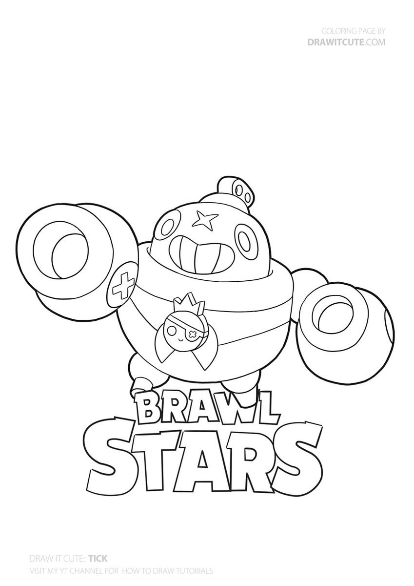 Pin On Brawl Stars Coloring Pages