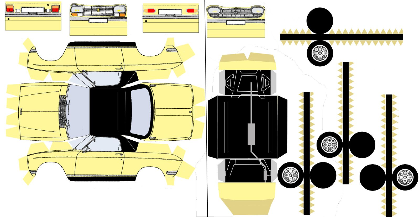 Pin On Cut Fold And Glue Papercraft Cars